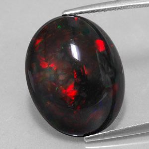 Fire Opal Black Gemstone - origin, utility and shape