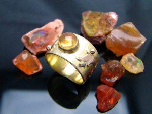 Fire Opal Jewelry, Fire Opal Gems - fireopalring