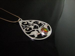 Fire Opal Pendant in a range of prices and designs - fireopalring.com
